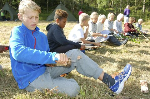 Nye tider: Leirskoletilbudet, som innføres fra høsten 2016, skal fullfinansieres av kommunen. Det vil si at det ikke budsjetteres med innsamlede midler. Dette bildet er tatt av elever ved Byskolen som var på leirskole på Vesterøya i 2013.