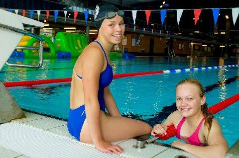 Sanne Berggren og Aleksandra Liverød er to av Sandefjords fem utøvere i NM. De har de siste dagene finpusset formen med Kristiansand-klubben Varodd. Nå er de klare for å jakte personlige rekorder i langbane-NM.
