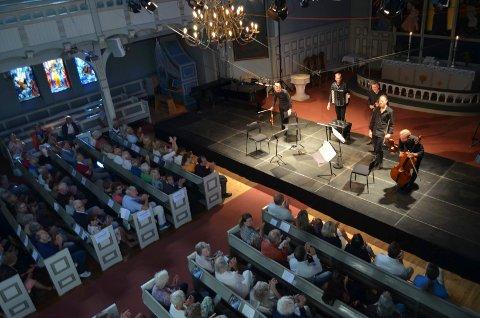"""VERDENSPREMIERE: Danish String Quartet og Andreas Borregaard (akkordeon) framførte Bent Sørensens """"Dancers and Disappearance""""."""