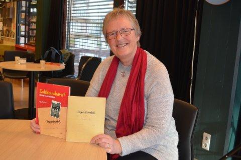 Forfatter: I boka Solskinnsbarn?, deler Inger Rismyhr historier fra oppveksten på Holm på 1960-tallet. Boka skal lanseres på Sandefjord bibliotek 14.11., men forfatteren innrømmer at hun har tjuvstartet litt.