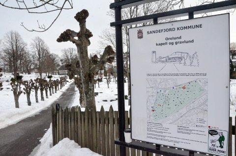 INGEN KONKRETE PLANER: Det er for tiden ingen planer om å anlegge navnede minnelunder i Sandefjord kommune. Utvidelsen av Orelund gravlund (bildet) må først ferdigstilles, før kommunen kan se på saken på nytt.