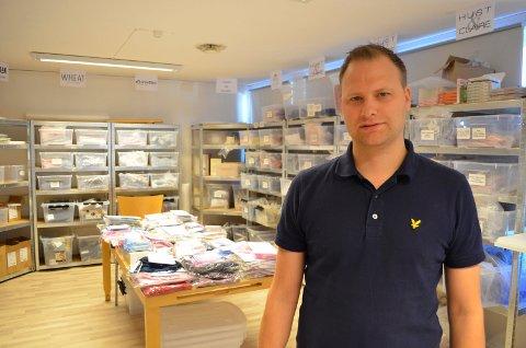 Gründer Raymond Halvorsen fra nettbutikken DressMyKid, barneklær på Pindsle.