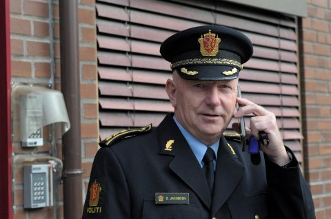Politistasjonssjef i Sandefjord, Brian Jacobsen.