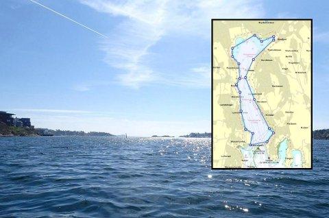 FREDET OMRÅDE: Nå er dette området på 1.600 dekar fredet i Sandefjord. I fredningsområdet er det forbudt å fiske med redskap som kan fange hummer.
