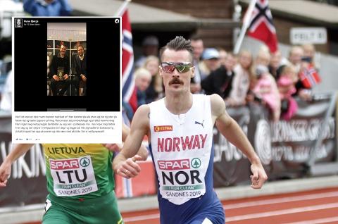 Henrik Ingebrigtsen utsatt for en artig spøk av komiker Rune Bjerga