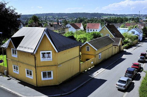 ØSTFOLDHUS: Dette er ett av de to husene som Østfoldhus har kjøpt i Thranes gate.