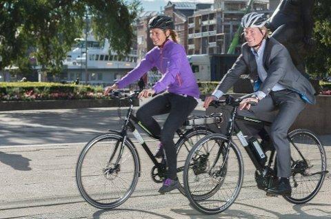 FORBUD? Stadig flere anskaffer seg en el-sykkel, men Norges taxiforbund mener syklene må forbys på fortau. (Foto: Sportsbransjen AS/ANB)
