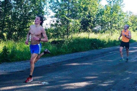 GODE: Amund Korsæth og Jørgen Lippert leverte torsdag de to beste tidene i  Torsdagsløpet i 2019.