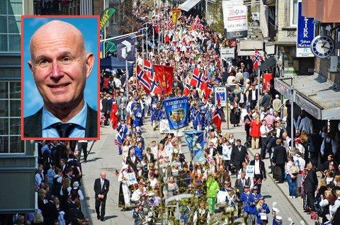 Helsedirektør Bjørn Guldvog frykter uvanlig 17. mai-feiring i år også.