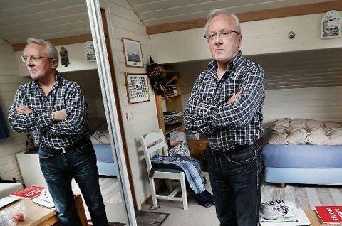 Johan F.Lindrupsen leier ut rom i boligen sin i Hansmarka i Tromsø.