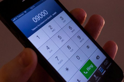 *** Local Caption *** Å bruke svindyre femsifrede telefonnumre til kundeservice kan være ulovlig.