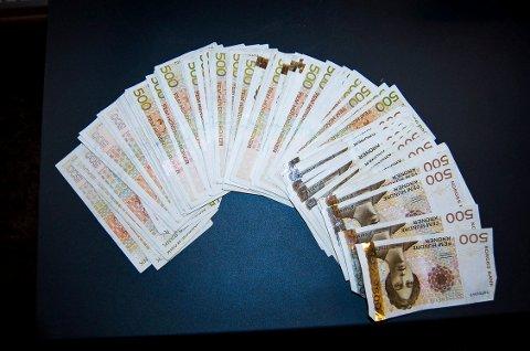 OVERTREDELSESGEBYR: Tollvesenet beslagla 45.000 kroner som overtredelsesgebyr for å ikke ha deklarert de 225.000 kronene. Penger