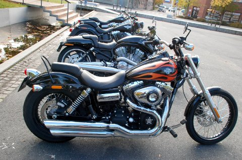 TOPP FIRE: I dag er det 265 Harley Davidson i Indre Østfold. Med det tallet havner de på fjerdeplass over de mest populære motorsykkelmerkene i vårt område. Arkivbilde
