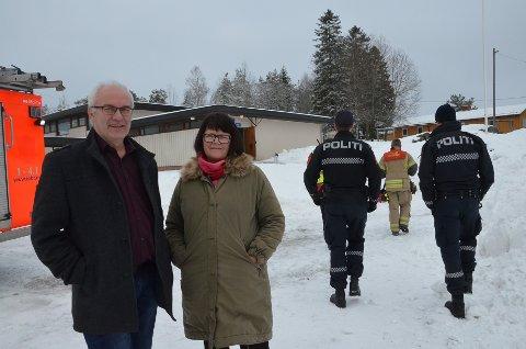 HANDLET RASKT: Inspektør ved Kirkelund skole Jon Andreassen og rektor Anne-Jorid Thomassen Næss.