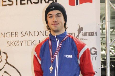STARTET HER: Jørgen Sæves solide opptur denne vinteren startet med sølvmedalje i sprint-NM før jul. ARKIVFOTO