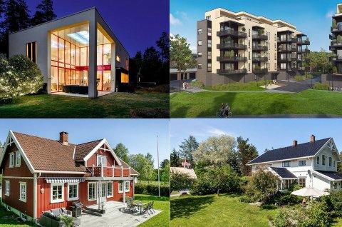 DYRE BOLIGER: Alle disse boligene er lagt ut på markedet med en prisantydning på over 5 millioner kroner.