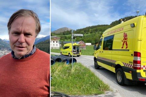– TRAGEDIE: Ordførar Alfred Bjørlo seier heile lokalsamfunnet er ramma etter dødsulykka i Nordfjordeid tysdag.