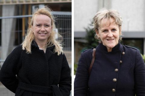 Renate Gimre (Frp) og Anne Marie Joa (Sp) tilhører hvert sitt parti, men i helse- og omsorgssaker står de ofte sammen. – Det er nok sykepleierne i oss som gjør at vi ser mye likt på saker, sier de.