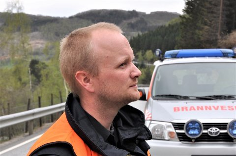 UKJENT BEHOV: – Eit år går fort, seier brannsjef Johan Mjølhus som vil planlegga eventuell ekstrainnsats i brannvesenet når hydrogenferjene blir sette i trafikk.