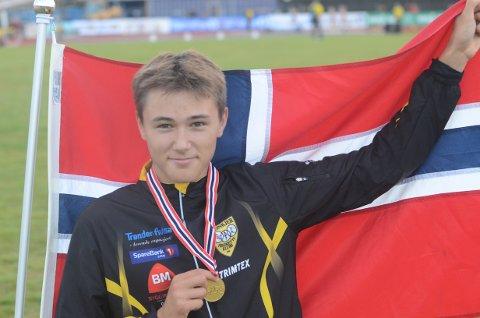 TALENT: Bastian Elnan Aurstad er et stort lokalt friidrettstalent.