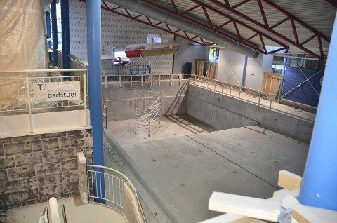 Dampsaga Bad - 20. oktober 2020. Spaavdeling i bassenget til venstre i bildet, er i nærheten av Lille Mye.