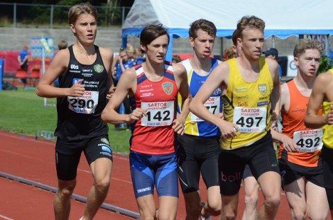 Mathias Flak ble nummer fire på 5000 meteren i hans siste aldersbestemte mesterskap. Steinkjer-gutten har aldri klart å ta medalje på junior NM.