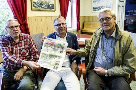 KOMITÉ: Johnny Kristoffersen, Erling Laland og Knut Skarvang står bak «Tett Tank-komiteen» på Facebook. FOTO: NILS JUL LANDE