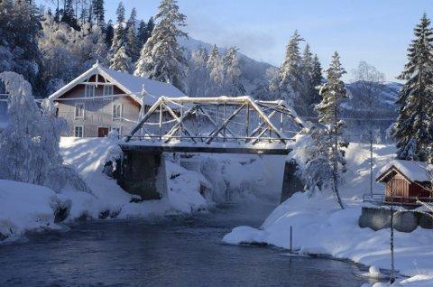 KALDT: Kulden i februar gjør strømmen dyrere for deg. Heddal Mølle blir igjen vakker i vinterlig, krystallisert «melis».