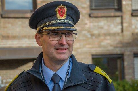 POLITIMESTER: Ny politimester i Sør-Øst politidistrikt, Ole B. Sæverud, betegner seg selv som prosessorientert og opptatt av å holde farten oppe i politireformen. Foto: Henrik Ulrichsen/TB