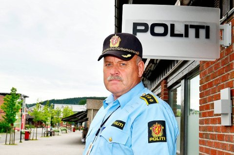 Politikontakt Svein Engen ved Aurskog-Høland lensmannskontor. Foto: Øyvind Henningsen