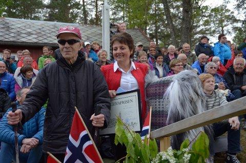 Fredrik Sjøflot var ikke sikker på at han fortjente Kleivaprisen, selv om både ordfører Lilly Gunn Nyheim og alle de andre på Kleivakvelden forsøkte å overtale ham om det.