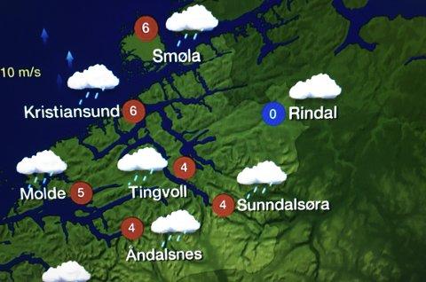 ENDRES: På nyåret endres dette kartet når Rindal flytter til region Trøndelag. I stedet for Rindal skal Surnadal endelig få komme på kartet.