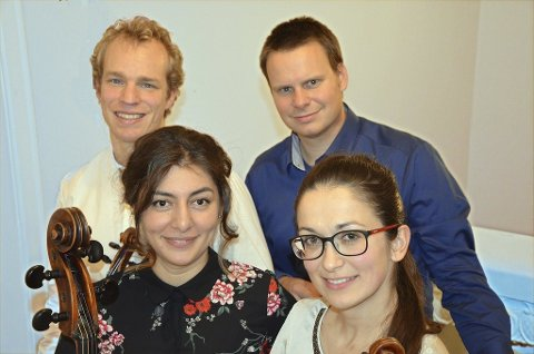 Kvartett: Odd Sontag, Trond Harald Saltnes, Zhala Aliyeva og Anna Ostachowska.