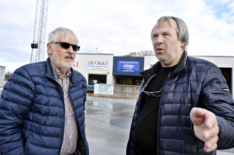 Stengte dører: Tor Olsen (til venstre) i Arena Nordvest og Kjell Otto Hoel i Braatthallen sier store arrangement er satt på vent som følge av utbruddet av koronaviruset.