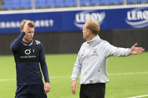 Tilbake: Fredag var Jesper Isaksen tilbake på KBK-trening. KBK-trener Christian Michelsen var aldri i tvil om at han ville hente 21-åringen tilbake til Kristiansund da det ble klart at Olaus Skarsem forsvant til Rosenborg.