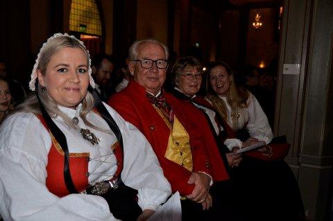 FAMILIE PÅ GUDSTJENESTE: (Fra venstre) Yvonne Simonsen, Thore Simonsen, Vera Gran Simonsen og Eirin Gran Pedersen.