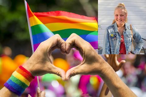 ARRANGERER PRIDE: Takket være Victoria Steen Hansen og Aram Karim tar nå Tønsberg også del i Pride-feiringen.