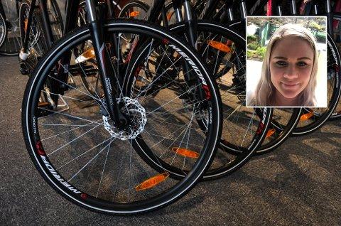 SYKKELTYVERI: Ine Marie ble frastjålet tre sykler. Syklene på bildet har ikke noe med saken å gjøre.