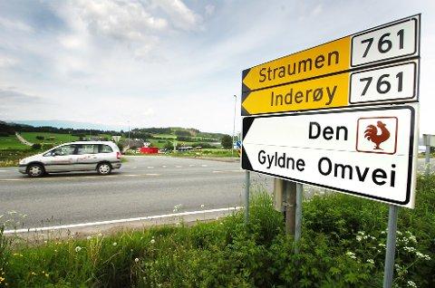 ATTRAKTIVT: Straumen i Inderøy er kåret til Norges mest attraktive sted i 2020..
