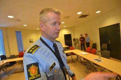 FORBEREDT: Lensmann Kjetil Ravlo i Stjørdal understreker at SIAN-markeringen er et lovlig arrangement, og at politiets rolle er å bidra til at det blir gjennomført så bra som mulig.