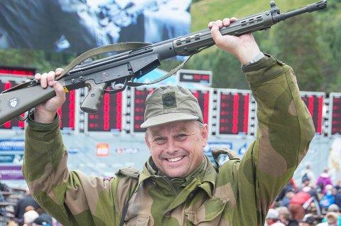 Trond Glidje gikk i dag til topps i det militære norgesmesterskapet i skyting for 4. gang. Foto: Magne Ingolf Madsen