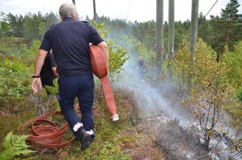 Brannmannskapene kan få mye å gjøre med å slokke skogbranner hvis det tørre været fortsetter, og folk er uforsiktige med bruk av ild. Arkivfoto