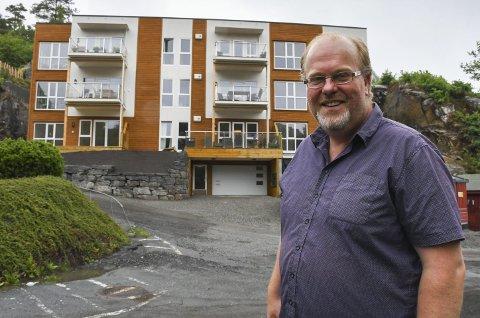 Tjennaparken: I juni i fjor kunne folk flytte inn i det første bygget. Her er én av ni leiligheter usolgt, mens samtlige fem leiligheter i det neste bygget er solgt.Arkivfoto