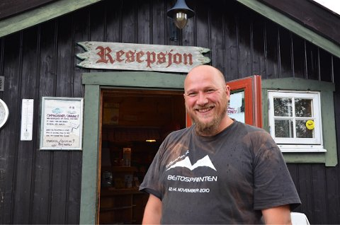 Travel mann: Håvard Dale har alltid noe han skal ordne på campingen nå som sesongen er i gang for fullt.