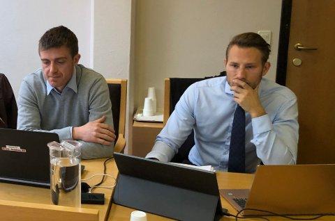 Forklarte seg: Brødrene Dokken AS representert ved anleggsleder Kenneth Dokken med advokat Lars-Henrik Windhaug som forsvarer.