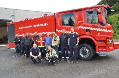 TRENER: Fra 7.–11. september skal Nord-Aurdal brannvesen trene på utrykningkjøring med sin nye tankbil.