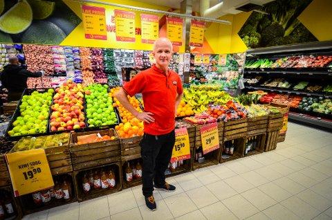 FORNØYD MED 2017:Butikksjef Stig Aulie hos Extra Vestby
