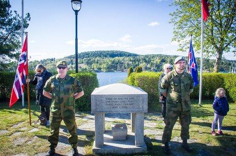 HEDRES: Hvert år markeres frigjøringsdagen 8. mai i både Vestby og Son. Nå får Vestby kommune en egen plan for veteranarbeidet. Her fra markeringen i Son 2017.