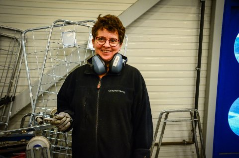 VIKTIG TILBUD: Kristin Skaflestad har hatt tilrettelagt arbeidsplass hos Næringstjenester i Vestby siden 1995. Hun mener langt flere enn i dag bør få et slikt tilbud.