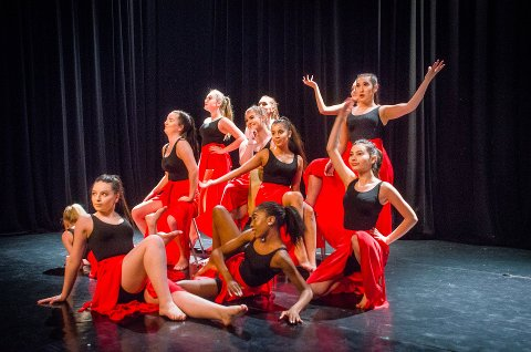 NY SESONG: Et glimt fra fjorårets oppvisning med Brevik Danseverksted. 3. september starter en ny sesong ved danseverkstedet.